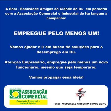 Campanha parceria com a SACI